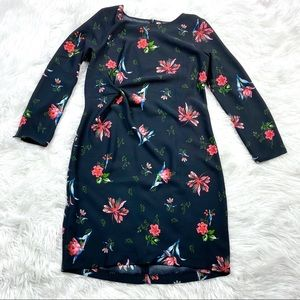 Ann Taylor Floral Side Knot Crepe Sheath Dress 14T